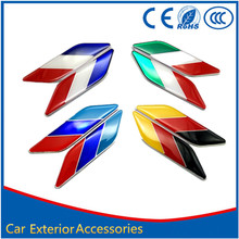 Buy car styling stickers aluminum Flag Italy Germany France emblem stripe badge sticker decal Audi TOYOTA BMW Mercedes Benz for $6.72 in AliExpress store