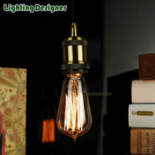 Buy ST58 Classic Edison bulb Retro filament antique bulb vintage squirrel cage design 220v e27 b22 base 25W 40W holiday light bulbs for $4.48 in AliExpress store