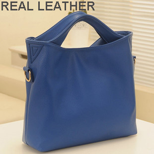 New Arrival female fashion handbag, genuine leather women's handbag with shoulder belt, real leather lady evening bags low price