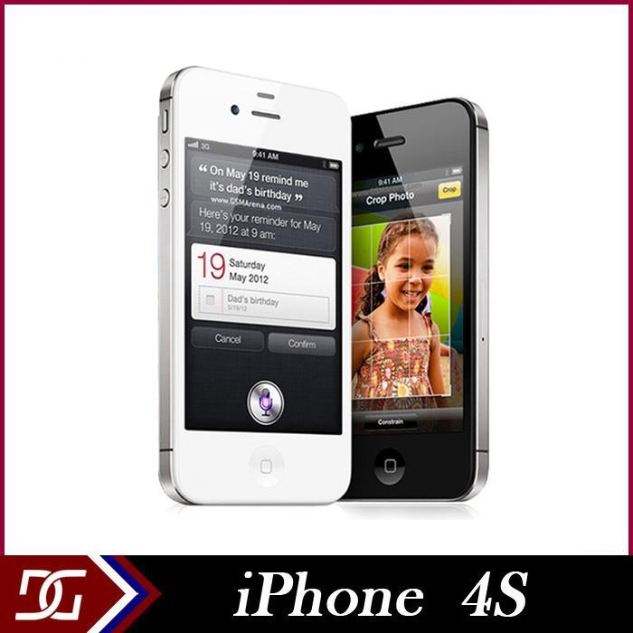 Мобильный телефон Apple iPhone 4S i4S 16GB /32GB IOS 8 GSM WCDMA 3G WIFI GPS 8MP 1080P 3.5 мобильный телефон 5c 100% iphone 5c ios 8 4 0 ips 8mp 1080 p 16 32 64 wifi 3g apple