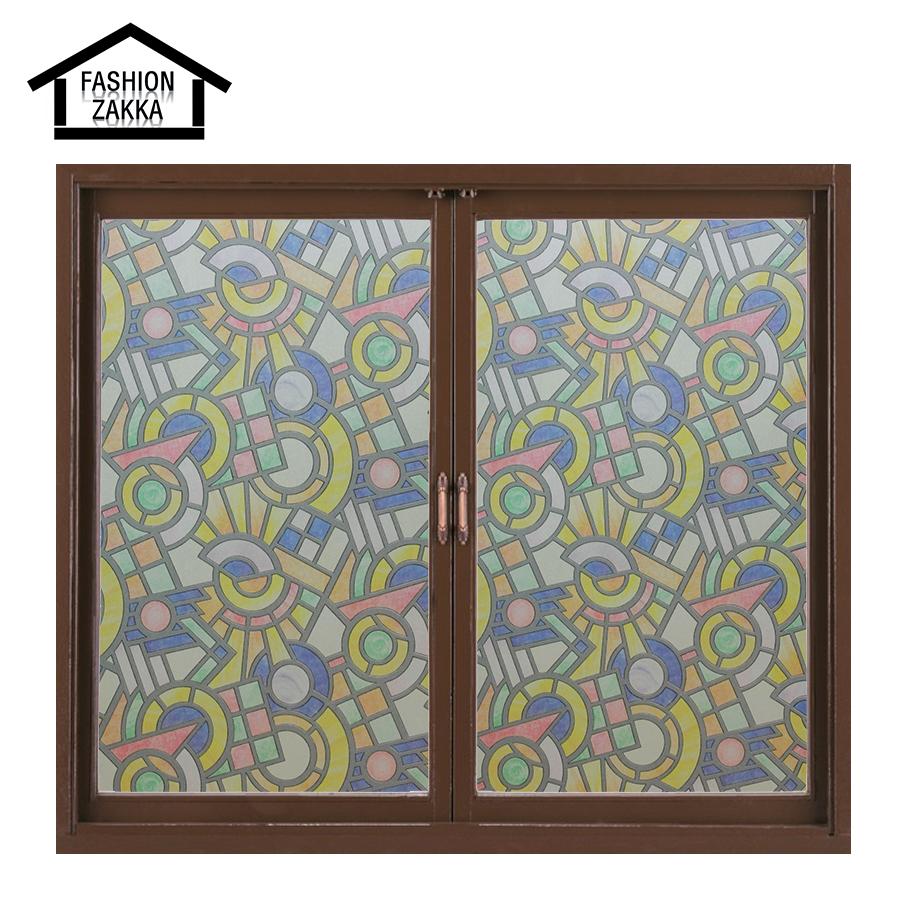 Hot Pattern European Church Style Stained Glass Film Decorative Stained Glass Window Film Window Sticker Flower Sticker(China (Mainland))