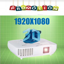 1080P 3LED 3LCD Proyector hugh contrast 1920x1080 2000 ANSI lumens for home video beamer multi languages  HDMI VGA free shipping(China (Mainland))