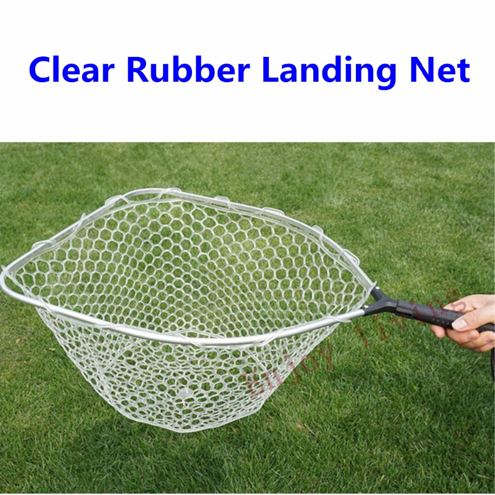 Rubber mesh landing net with removable replaceable for Rubber fishing net