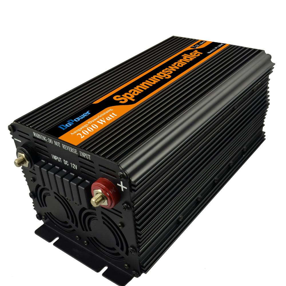 Dopower inverter 2000w 12v 220v peak power 4000w ,modified sine wave power inverter(China (Mainland))