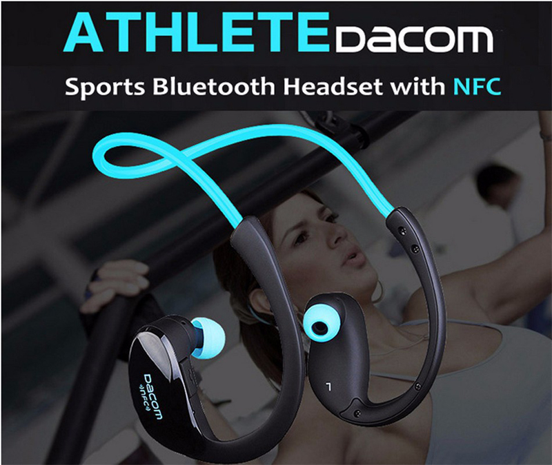 Dacom Athlete Bluetooth Headset Wireless Headphone BT4.1 Sports Stereo Earphone with HD Mic NFC auriculares for iPhone Samsung