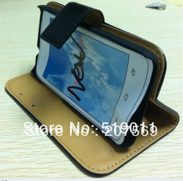 Alcatel Idol Mini Flip Cover,Wallet Leather Pouch Book Case Alcatel One Touch Idol Mini 6012 6012D with stand