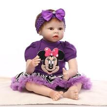 Buy 55cm Realistic Reborn Baby Girl Dolls Silicone Newborn Babies Girl Best Birthday Gifts Lifelike Reborn Baby Dolls Sale