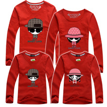 The Sweet Love T Shirts For Father Mother Daughter Women Men Son Clothing Matching Family Outfit Long Sleeves Cotton T-Shirts