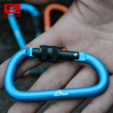 2016 New Outdoor Multi Colors Safety Buckle With Lock Aluminium Alloy Climbing Button Carabiner Camping Hiking D-shaped Hook