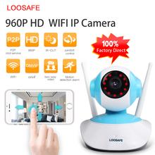 LOOSAFE 960P IP Camera WIFI Home Security Indoor Cam Surveillance System Onvif P2P Phone Remote Video Surveillance PTZ Camera(China (Mainland))