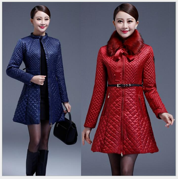 Hot sale brand winter womens fashion casual genuine leather plus size 3XL jacket coat women keep warm Slim cotton padded coat Одежда и ак�е��уары<br><br><br>Aliexpress