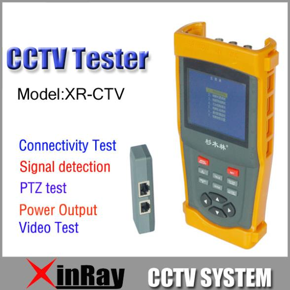 """Freeshipping 3.5"""" LCD CCTV Tester Video signal test 12V Power input/output PTZ control UTP BNC Cable Test XR-CTV(China (Mainland))"""