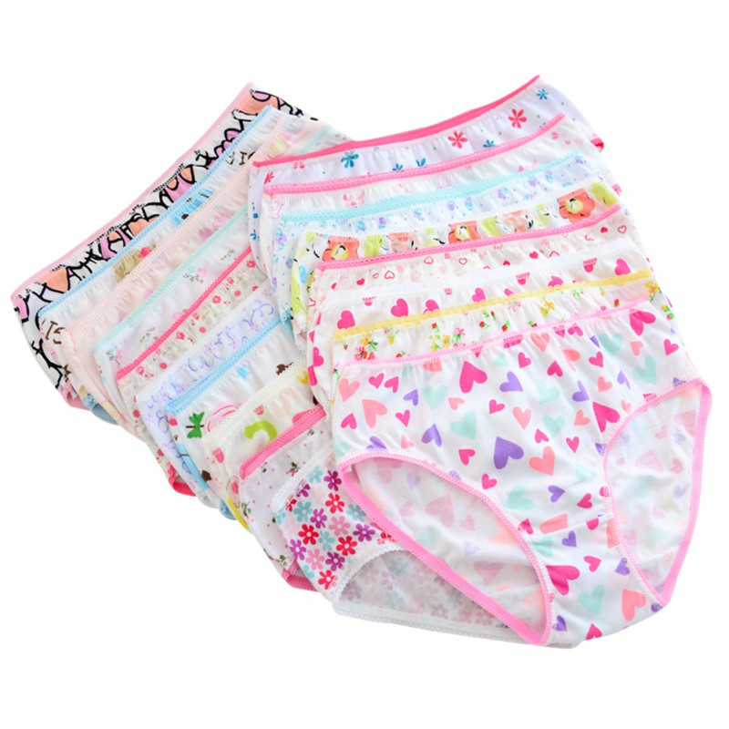 6pcs/pack 2017 Fashion New Baby Toddler Girls Soft Underwear Cotton Panties For Girls Kids Short Briefs Children Underpants(China (Mainland))