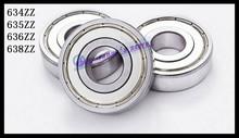 Buy 10pcs/Lot 634ZZ 634 ZZ 4x16x5mm Mini Ball Bearing Miniature Bearing Deep Groove Ball Bearing Brand New for $4.69 in AliExpress store