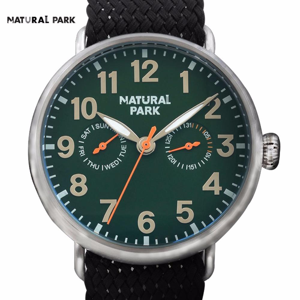 South Korea Fashion Brand Watch Quartz Casual Wristwatch NATURAL PARK Men's 2016 relojes hombre hand made Nylon Strap Waterproof(China (Mainland))