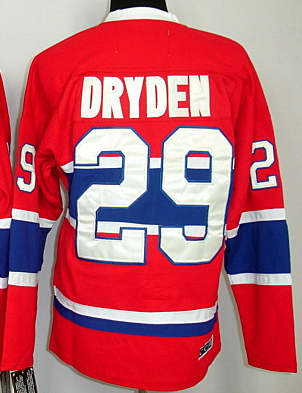 Discount Ice Hockey Jerseys Cheap Canadiens #29 dryden red Jerseys CH Patch Men's Stitched dryden Vintage NHL Jersey(China (Mainland))