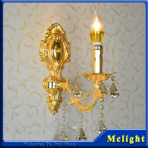 Crystal Wall Light Silver Sconces Lamp Golden Brackets - Lighting Beautiful store