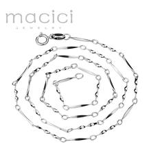 Новый Элегантный Цепи. 925 Твердые Стерлингового Серебра Цепи Ожерелье НА ПРОДАЖУ 40 см 45 см 2016 Fine Jewelry мода(China (Mainland))