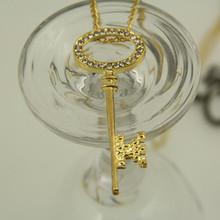 Sunshine jewelry store popular european sexy rhinestone key necklace for women X371  10 free shipping