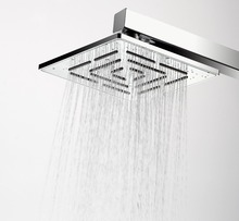 Buy 6 Inch Square Rainfall Shower Head Chrome Finish 164 Holes Water Stainless Steel Rain Showerhead (Not Including Shower Arm) for $19.20 in AliExpress store