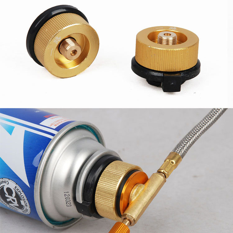 Outdoor Camping Gas Stove Picnic Burner Converter Adapter Connector metal,Flat gas tank convert to long cylinders Free shipping(China (Mainland))