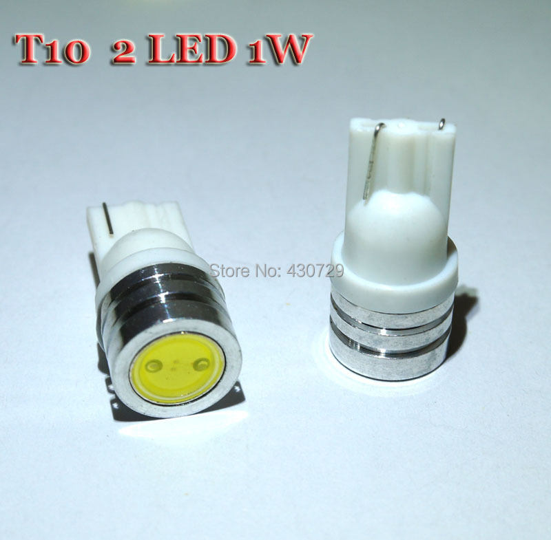 100pcs/lot High Power T10 W5W 184 2450 LED Door Light clearance Bulb 1W car led lamp corner parking light white(China (Mainland))