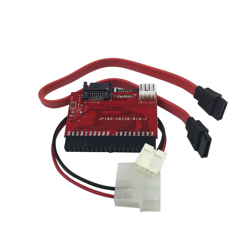 2 In 1 SATA To IDE Converter IDE To SATA Adapter 40 Pin IDE Port For ATA 133 100 HDD CD DVD Adaptor(China (Mainland))
