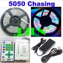 Buy 5050 270 rgb led strip chasing effect running rope light 5m waterproof ip65 iluminacion 12v +control+power adapter DHL 30 set for $888.00 in AliExpress store