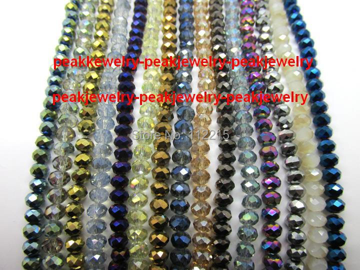 wholesale 3000pc lot 4m Crystal glass faceted Beads blue Ray, gold 15 color pick >100 usd free ship EMS DHL(China (Mainland))