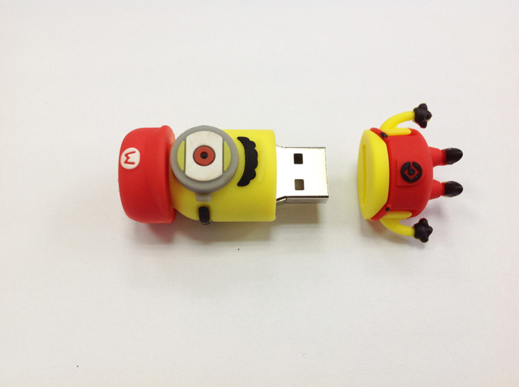cartoon usb flash drive pendrive minions mario usb stick 8g 4g lovely minion pen drive 16g