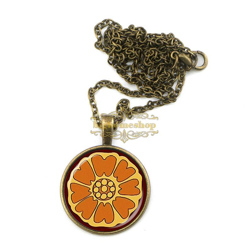BZA1119 popular movie avatar the last airbender pai sho white lotus necklace fashion handmade pendant(China (Mainland))