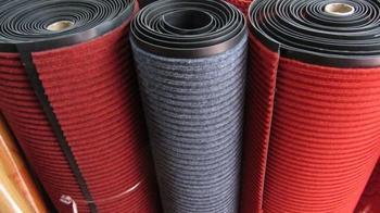 Household restaurant carpet compound double stripe pvc mats dust pad import doormat outdoor mat