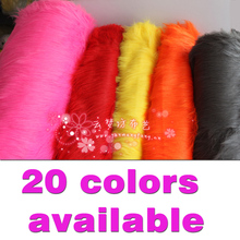 """Solid Shaggy Faux Fur Fabric long Pile Fur Costumes Crafts Photography Props Backdrops Cosplay  60""""  Sold BTY  Free Shipping(China (Mainland))"""