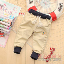 Baby boy 100% summer cotton casual trousers male child high waist pants sports trousers openable-crotch Length trousers