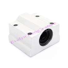 Free Shipping! 4 x SC10UU SCS10UU Linear motion ball bearings slide block bushing for 10mm linear shaft guide rail CNC parts