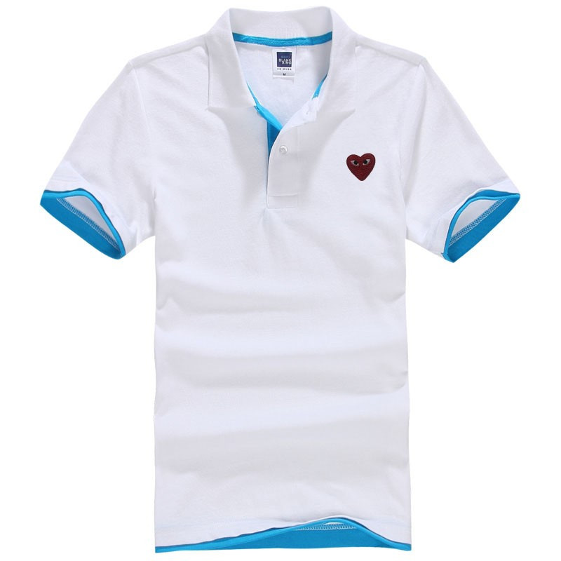 2016 New Men's Polo Shirt Designer Embroidered Heart polo homme Cotton Short Sleeve shirt sports jerseys golf tennis polo men(China (Mainland))