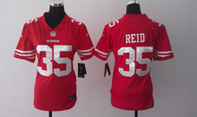 Women ladies all stitched San Francisco 49ers 52 Patrick Willis 7 Colin Kaepernick # 38 Jarryd Hayne 53 Bowman 28 Carlos Hyde(China (Mainland))