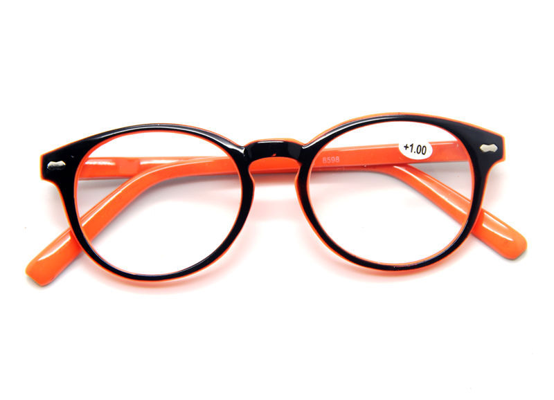 Reading Glasses Large Frame : Fashion Candy Colors Orange Large Big Round Frame ...