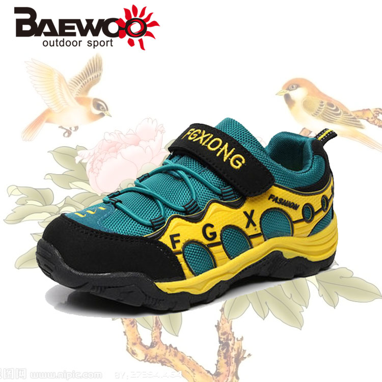 2016 Spring Children Baseball Sneakers Hiking sports Sneakers Boys Runing Climbing Cycling Sports shoes Child Casual sneakers(China (Mainland))