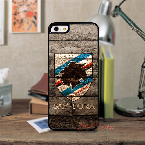 1PC Hot Sale U.C.Sampdoria FC Sports Hard Black Cell Phones Back Shell Case Cover For Iphone 5 5S 4 4s 5C Cases(China (Mainland))