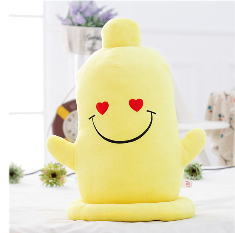 6 Styles 25cm-42cm Yellow Cartoon Sexy Adult Condom Pillow Set Dolls Plush Toys For Girls Lovers Valentine Gift Hot Sale(China (Mainland))