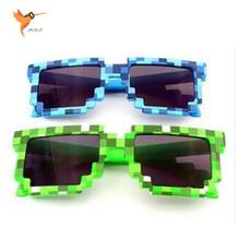 Minecraftอาทิตย์แว่นตา6-15 Yเด็กแว่นตากันแดดไม้เลื้อยแว่นตาแปลกโมเสคแว่นตาแฟชั่นผู้ชายผู้หญิงชายหญิงพิกเซลEyewares