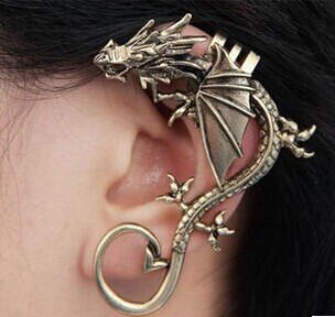 New fashion jewelry vintage Dragon clip earring gift for women girl mix color E2476<br><br>Aliexpress