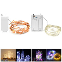 Buy DIY 2M 5M LED Copper Wire string light Waterproof Holiday Wedding decoration flower LED strip light Battery Power Christmas lamp for $1.19 in AliExpress store