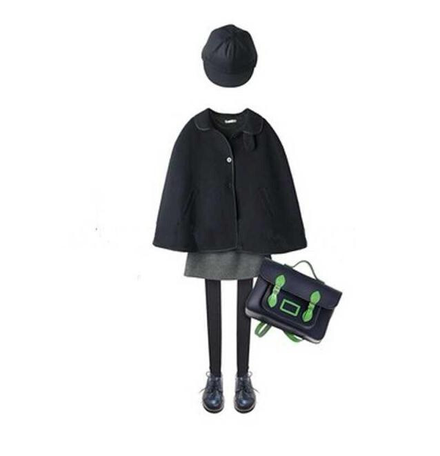 1382752 Retail 2015 New Autumn Fashion Girl Wool Solid Turn-down Collar Girl Coat Kids Clothes Girls Outerwear<br><br>Aliexpress
