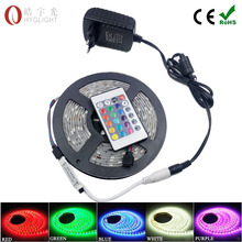 5M Waterproof 5050 SMD RGB LED Strip light Red/Green/Blue/Yellow/White/Warm White+ remote controller+ DC 12V 3A  Adapter EU / US(China (Mainland))