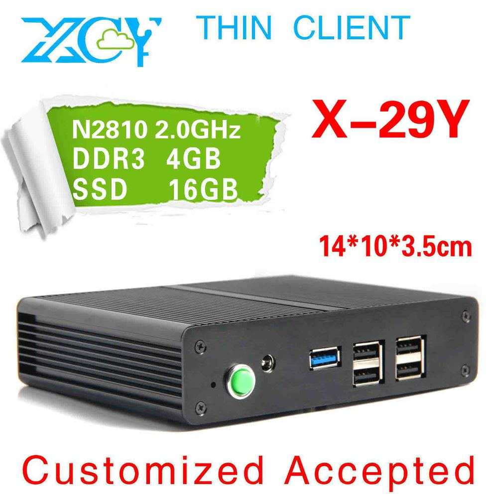 A big promotion!! 2.0 GHZ dual core dual thread arm computer XCY X-29Y Support virtualization technology wireless thin client(China (Mainland))