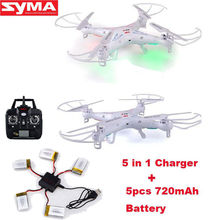 Free Shipping! Syma X5C-1 RC Quadcopter Drone W/2MP Camera+5pc xSpare Batteries+5-In-1 Charger