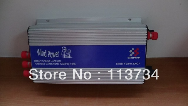 12V 24V 36V Wind Power Generator Battery Charge Charger PWM Controller for 200W 300W Wind Turbine off grid system