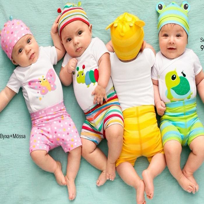 2016 Fashion Newborn Baby Girl Clothes Summer Cotton Baby Boy Clothing New Unisex Infant Sets 3Pcs(Romper+Hat+Pants)(China (Mainland))